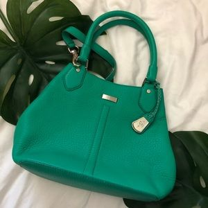 Cole Haan Leather Tote In Kelly Green